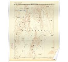 USGS Topo Map Nevada Disaster 321658 1893 250000 Poster