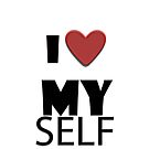 I love myself iphone design by Amalia Iuliana Chitulescu
