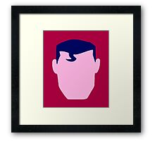 Superman + Faceless Framed Print