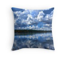 Lake With Sprinkles Throw Pillow