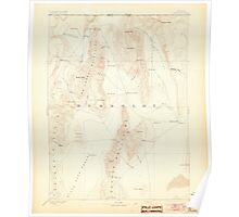 USGS Topo Map Nevada Disaster 321656 1893 250000 Poster