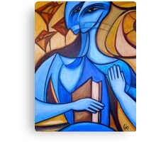 Blue Reader Canvas Print