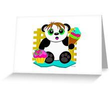 Cute Panda Who Loves Sweets Greeting Card