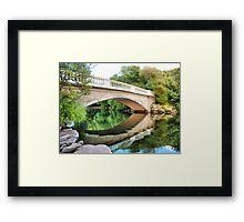Reflections Through the Bridge  Framed Print