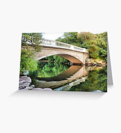 Reflections Through the Bridge  Greeting Card
