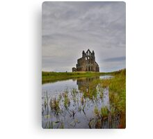 Yorkshire: Whitby Abbey Reflections. Canvas Print