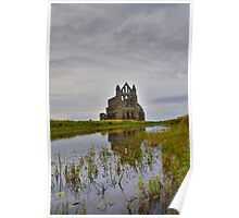 Yorkshire: Whitby Abbey Reflections. Poster