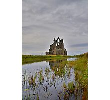 Yorkshire: Whitby Abbey Reflections. Photographic Print