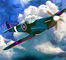 Supermarine Spitfire WWII by Dennis Melling