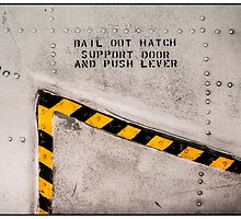 Aircraft Abstract—Bail Out Hatch Marking by Michel Godts