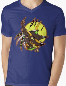 NEGAWEEN Mens V-Neck T-Shirt