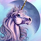 Lunar Unicorn iPhone Case by cybercat