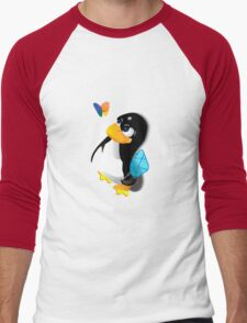 What are you doing, Tux? Men's Baseball ¾ T-Shirt