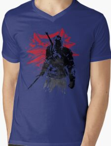 The Witcher sumi-e Mens V-Neck T-Shirt