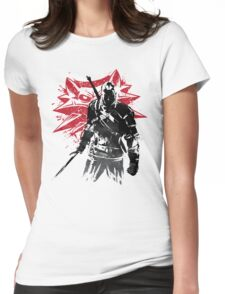 The Witcher sumi-e Womens Fitted T-Shirt