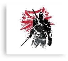 The Witcher sumi-e Canvas Print