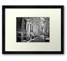 Winter - Upper East Side - New York City Framed Print