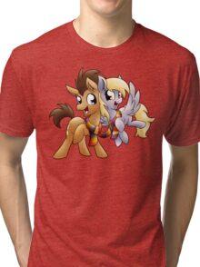 Derpy & Doctor Whooves Tri-blend T-Shirt