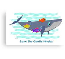 Save the Gentle Whales Canvas Print