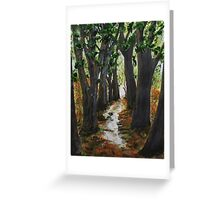 Rainy Day Walk Greeting Card