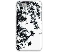 black on white iPhone Case/Skin