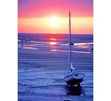 Meols Beach at Sunset Photographic Print