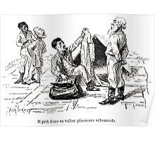 Achille Sirouy Mark Twain Les Aventures de Huck Huckleberry Finn illustration p148 Poster