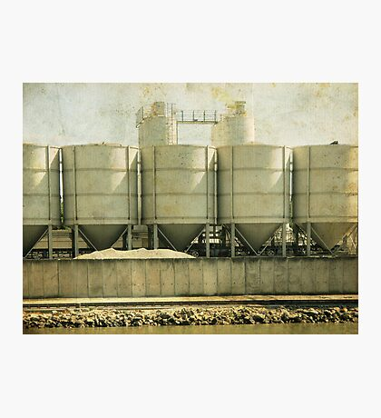 Cement Silo Photographic Print