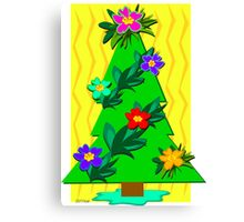 Tropical Christmas Tree for the Holidays Canvas Print