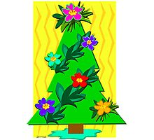 Tropical Christmas Tree for the Holidays Photographic Print
