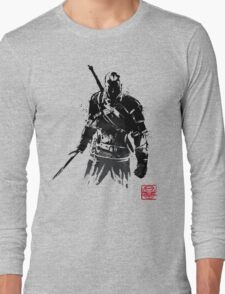 The Witcher sumi-e V2 Long Sleeve T-Shirt
