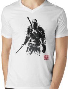 The Witcher sumi-e V2 Mens V-Neck T-Shirt