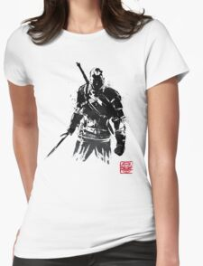 The Witcher sumi-e V2 Womens Fitted T-Shirt