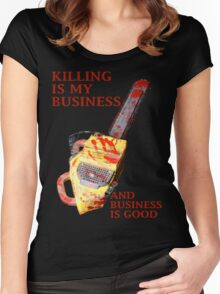 KILLING IS MY BUSINESS AND BUSINESS IS GOOD Women's Fitted Scoop T-Shirt