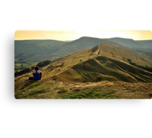 View Over The Peaks Canvas Print