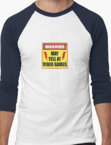 Gamer Warning Men's Baseball ¾ T-Shirt