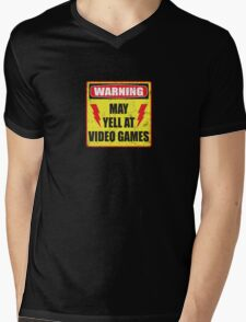 Gamer Warning Mens V-Neck T-Shirt