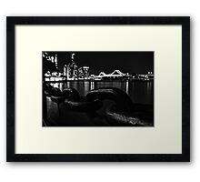 Riverside Stroll (Part 2) B&W Framed Print
