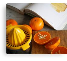 Mandarin Juicing Canvas Print