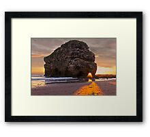 Projection Through Rock Framed Print
