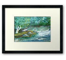 At The Bend In The River Framed Print
