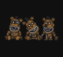 Five Nights at Freddys 4 - Mini Freddy's - Pixel art Kids Tee
