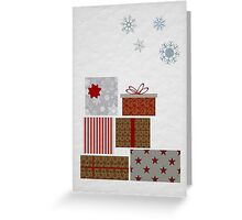 Stack of presents Christmas card Greeting Card