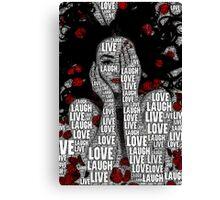 LiveLoveLaugh Canvas Print