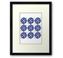 ethnic style blue pattern Framed Print