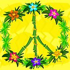 Tropical Peace Sign with Flowers by TheBluePlanet