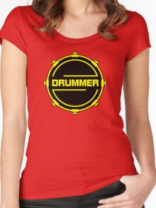 Drummer Black Yellow Women's Fitted Scoop T-Shirt
