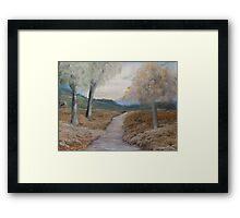 An Evening Walk  Framed Print