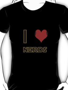 I Heart Nerds (Star Wars style with Princess Leia buns) T-Shirt
