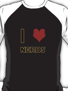 I Heart Nerds (Star Wars style with Princess Leia buns) T-Shirt